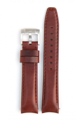 Everest Curved End Leather Strap With Tang Buckle- Vintage Brown EH8BRN product image