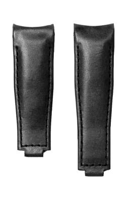 Everest Curved End Leather Strap For Deployant 4 Links X 4 Links - Black EH9BLK44 product image