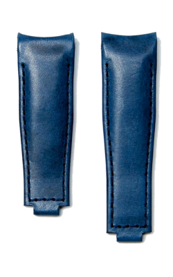 Everest Curved End Leather Strap For Deployant 4 Links X 4 Links - Blue EH9BLU44 product image