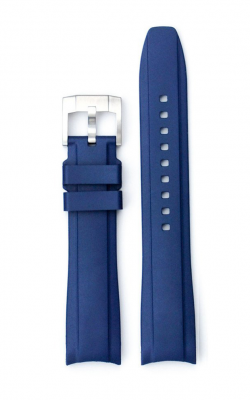 Everest Curved End Rubber Strap With Tang Buckle - Blue EH10BLU product image