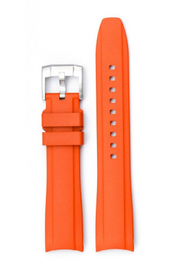 Everest Curved End Rubber Strap With Tang Buckle - Orange EH10ORG product image