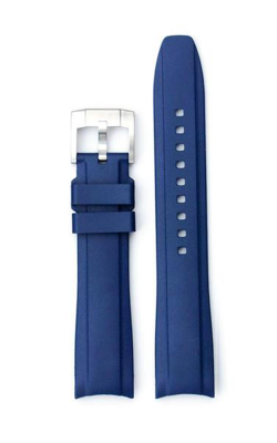 Everest Curved End Rubber With Tang Buckle - Blue EH11BLU product image