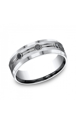 Forge Cobalt Comfort-Fit Black Diamond Wedding Ring CF975622CC06 product image
