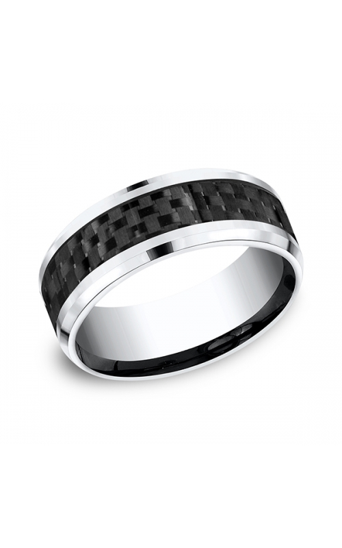 Forge Cobalt and Carbon Fiber Comfort-Fit Design Wedding Band CF68900CFCC06 product image
