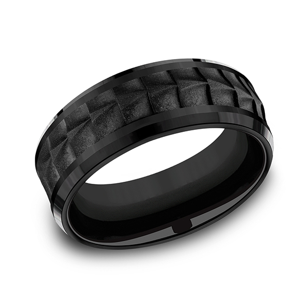 Forge Black Titanium Comfort-fit Design Wedding Band CF108765BKT08 product image