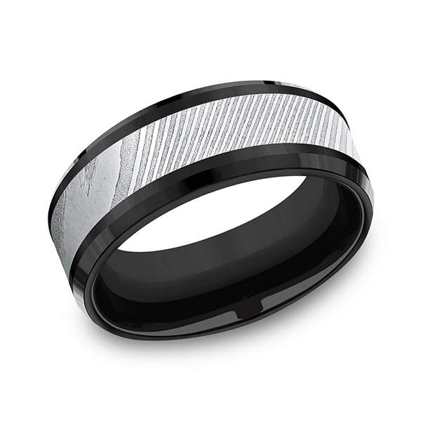 Forge Black Titanium Comfort-fit Design Wedding Band CF108814BKTDS08 product image