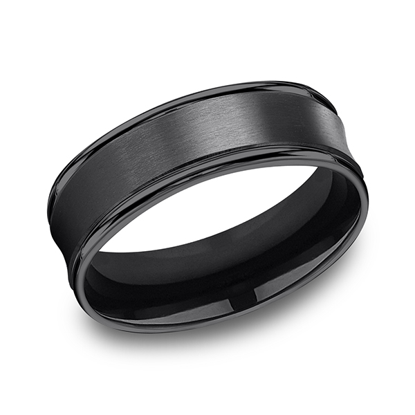 Forge Black Titanium Comfort-Fit Design Wedding Band RECF87500BKT06 product image