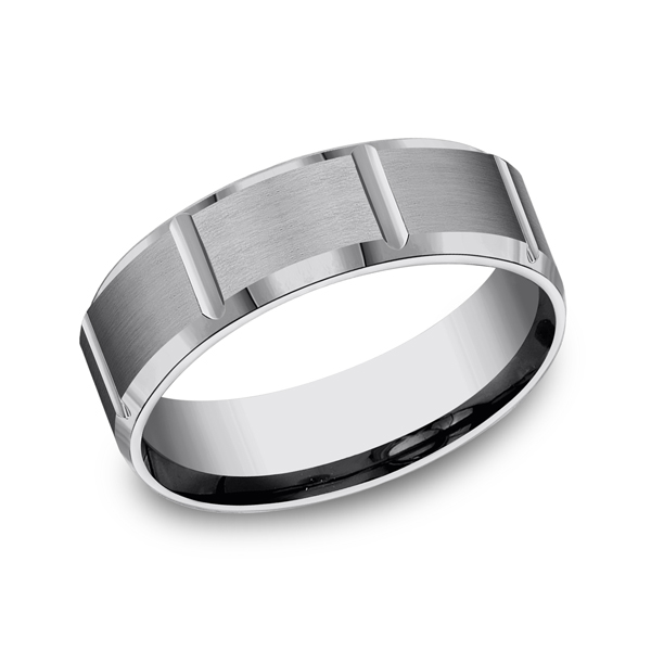 Forge Tungsten Comfort-Fit Design Wedding Band CF67449TG06 product image