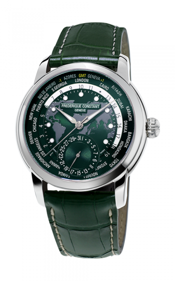 Frederique Constant Manufacture Worldtimer Watch FC-718GRWM4H6 product image