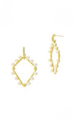 Freida Rothman Textured Pearl Earring TPYZFPE02-14K product image