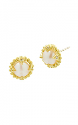 Freida Rothman Textured Pearl Earring TPYZFPE12-14K product image