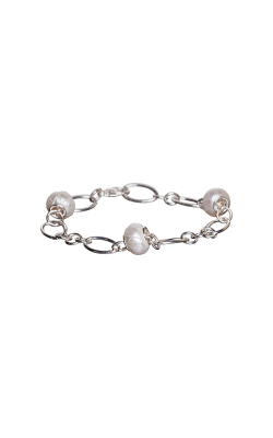 Galatea Carved Pearl & Sterling Bracelet 8012BW product image