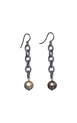 Galatea Carved Pearl & Sterling Earring 8014ET product image