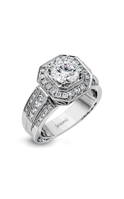 Simon G Passion - 18k White Gold 1.00ctw Diamond Engagement Ring, NR109 product image