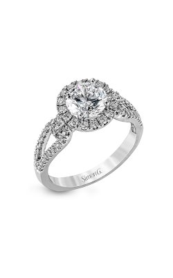 Simon G Passion - 18k White Gold 0.49ctw Diamond Engagement Ring, LP2027 product image