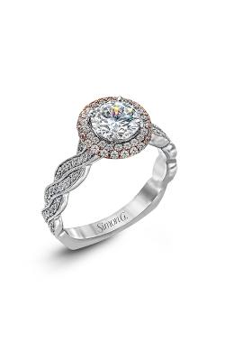 Simon G Passion - 18k Rose Gold, 18k White Gold 0.51ctw Diamond Engagement Ring, MR2133 product image