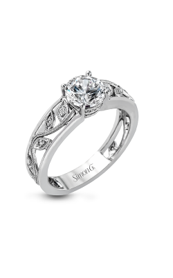 Simon G Duchess - 18k White Gold 0.09ctw Diamond Engagement Ring, MR2100 product image