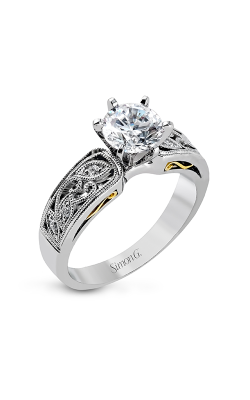 Simon G Duchess - 18k White Gold 0.07ctw Diamond Engagement Ring, LP1355 product image