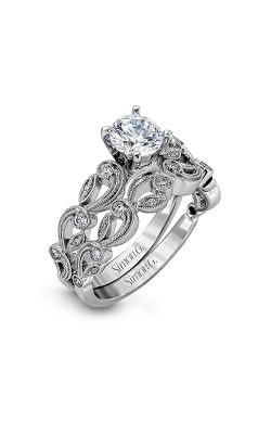 Simon G Duchess - 18k White Gold 0.28ctw Diamond Engagement Ring, TR473 product image