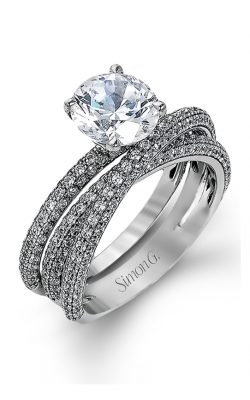 Simon G Modern Enchantment - 18k White Gold 1.59ctw Diamond Engagement Ring, MR1577-D product image