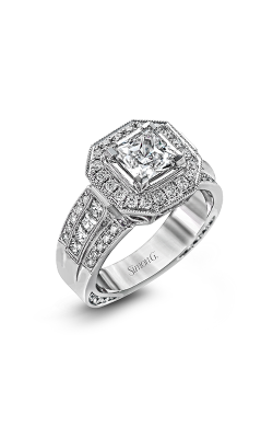 Simon G Passion - 18k White Gold 0.95ctw Diamond Engagement Ring, NR109-A product image