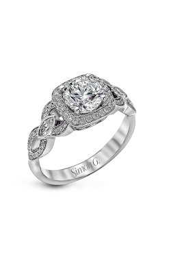 Simon G Passion - 18k White Gold 0.43ctw Diamond Engagement Ring, TR395 product image