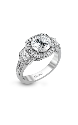 Simon G Passion - 18k White Gold 0.89ctw Diamond Engagement Ring, TR484 product image