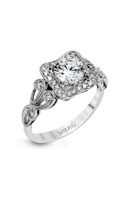 Simon G Passion - 18k White Gold 0.27ctw Diamond Engagement Ring, TR549 product image