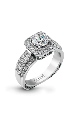 Simon G Passion - 18k White Gold 0.45ctw Diamond Engagement Ring, NR453 product image