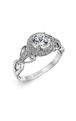 Simon G Passion - 18k White Gold 0.17ctw Diamond Engagement Ring, TR519 product image