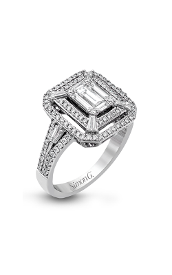 Simon G Mosaic - 18k White Gold 1.03ctw Diamond Engagement Ring, LP2259 product image