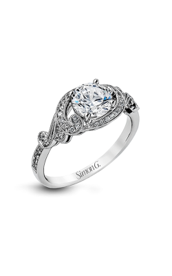 Simon G Duchess - 18k White Gold 0.19ctw Diamond Engagement Ring, TR529 product image