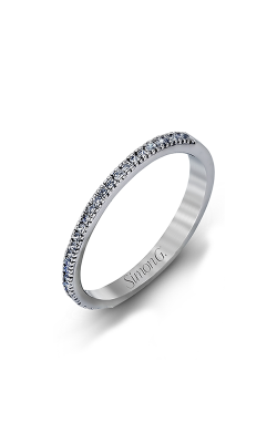 Simon G Passion - 18k White Gold 0.18ctw Diamond Wedding Band, MR1842-A product image
