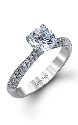 Simon G Caviar - 18k White Gold 0.72ctw Diamond Engagement Ring, TR431 product image