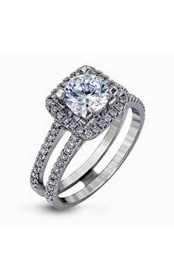 Simon G Classic Romance - 18k White Gold 0.50ctw Diamond Engagement Ring, TR128 product image