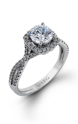 Simon G Passion - 18k White Gold 0.44ctw Diamond Engagement Ring, NR468 product image