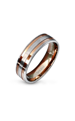 Simon G Men's Wedding Bands - 14k white gold, 14k rose gold  Wedding Band, LG104 product image