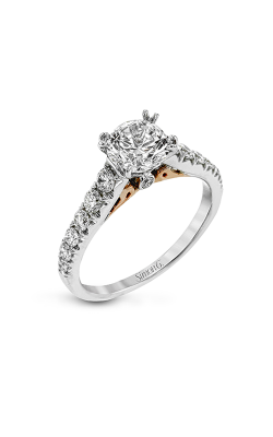 Simon G Passion - 18k White Gold, 18k Rose Gold 0.55ctw Diamond Engagement Ring, LP2356 product image