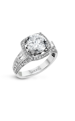 Simon G Passion - 18k White Gold 0.59ctw Diamond Engagement Ring, LR1156 product image