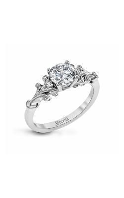 Simon G Vintage Explorer - 18k White Gold 0.13ctw Diamond Engagement Ring, TR667 product image