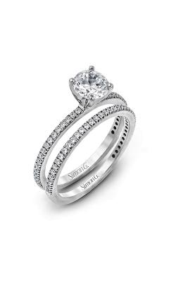 Simon G Classic Romance - 18k White Gold 0.30ctw Diamond Engagement Ring, PR108 product image