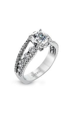 Simon G Modern Enchantment - 18k White Gold 0.91ctw Diamond Engagement Ring, MR2248 product image