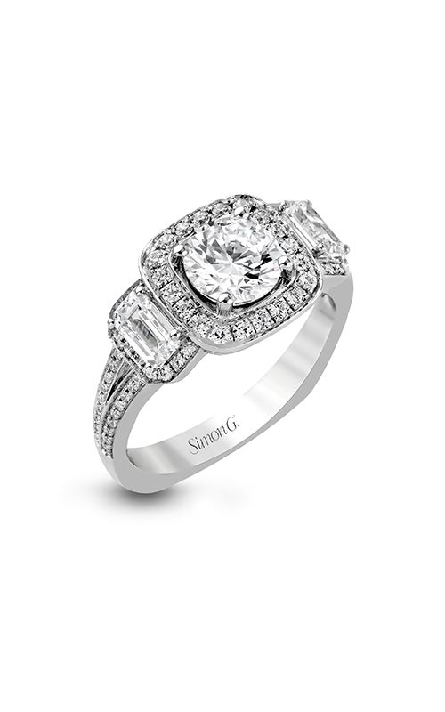 Simon G Passion - 18k white gold 1.21ctw Diamond Engagement Ring, TR446 product image