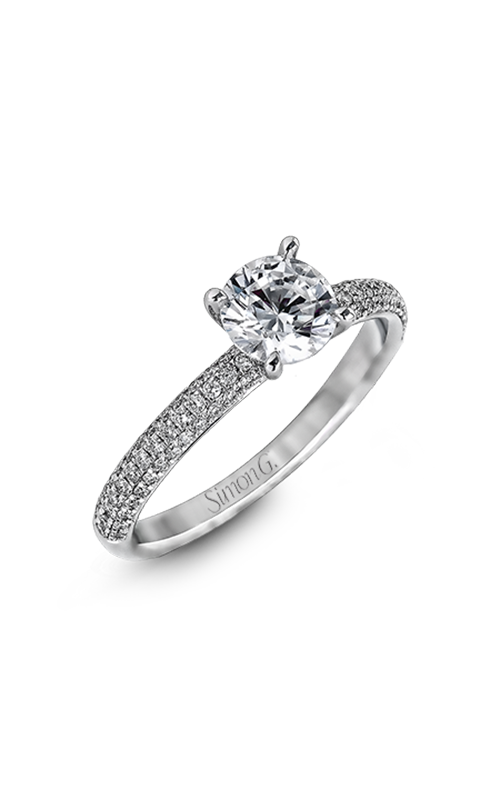 Simon G Caviar - 18k white gold 0.86ctw Diamond Engagement Ring, LP1935-D product image