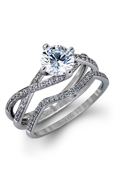 Simon G Fabled - 18k white gold 0.22ctw Diamond Engagement Ring, MR1394 product image