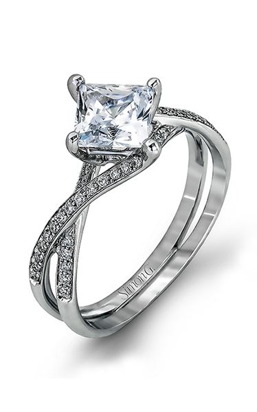 Simon G Fabled - 18k white gold 0.23ctw Diamond Engagement Ring, MR1395 product image