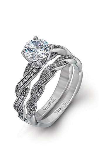 Simon G Classic Romance - 18k white gold 0.25ctw Diamond Engagement Ring, MR1498 product image