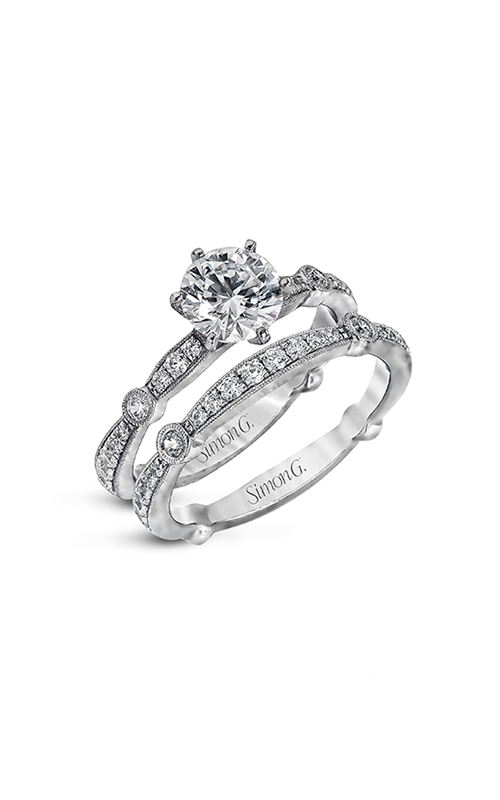 Simon G Vintage Explorer - 18k white gold 0.59ctw Diamond Engagement Ring, MR1546 product image