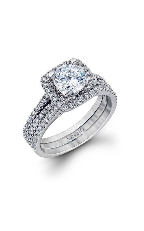 Simon G Fabled - 18k white gold 0.50ctw Diamond Engagement Ring, TR128 product image