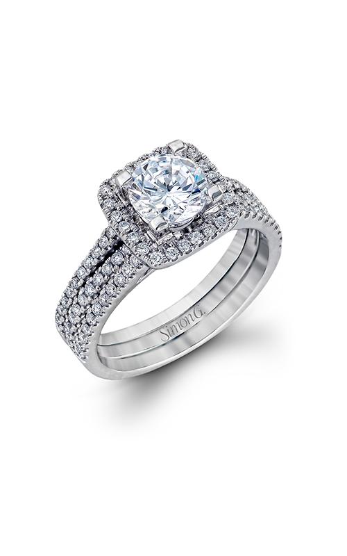Simon G Classic Romance - 18k white gold 0.50ctw Diamond Engagement Ring, TR128 product image